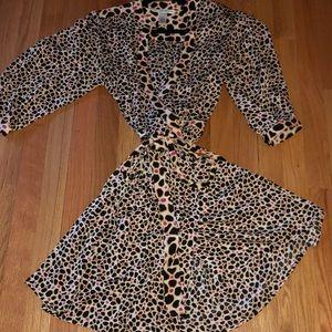 Diane von Furstenburg wrap silk pebble dress